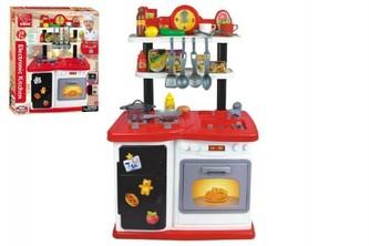 Kuchyňka plast 97,8x37,5x62,9cm na baterie se zvukem se světlem 30ks v krabici 61,5x76x17cm