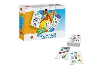 Sleduj a najdi - Barevné piktogramy společenská hra v krabici 24x20x5cm