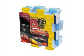 Pěnové puzzle Cars 3/Auta 32x32x1,5cm 8ks v sáčku