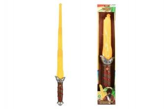 Meč pirát plast +/-80cm na baterie se světlem se zvukem v krabici