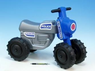 Teddies - Odrážedlo CROSS Policie plast výška sedadla 28cm nosnost do 25kg od 18 měsíců