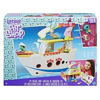 Littlest Pet Shop Hrací set - výletní loď se 3 zvířátky - Hasbro Littlest Pet Shop
