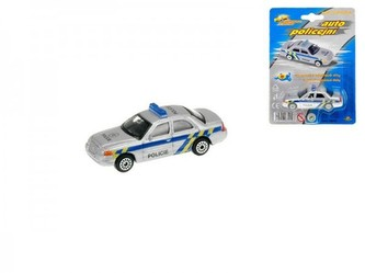 Auto policie kov/plast 7cm na kartě