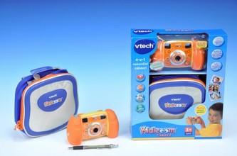 Kidizoom Fotoaparát s pouzdrem VTech oranžový plast 15x8cm na baterie 4xAA v krabičce