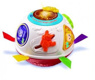 Upovídaný míček Vtech pro nejmenší plast 15cm na baterie se zvukem se světlem v krabici od 6 měsíců