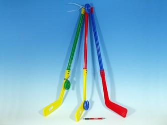 Teddies - Hokejka plastová s pukem 74cm mix barev