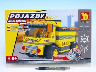 Stavebnice Dromader Auto RC stavební 20109 na vysílačku na baterie 202ks v krabici 34x21x7cm