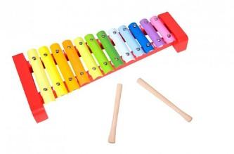 Teddies - Xylofon dřevo/kov 36cm v krabici