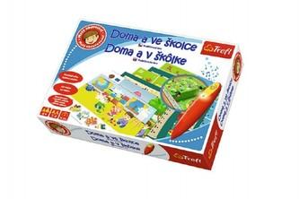 Malý objevitel Doma a ve školce + kouzelná tužka edukační společenská hra v krabici 33x23x6cm