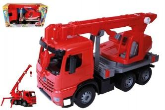Lena - Auto jeřáb plast 70cm 3-osý Mercedes Actros v krabici