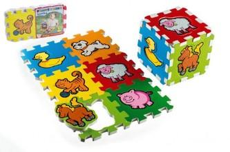 Teddies - Pěnové puzzle Moje první zvířátka 15x15x1,2cm 6ks MPZ