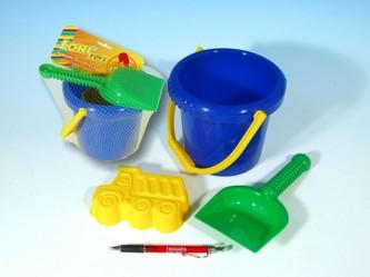 Sada na písek - kbelík, lopatka, bábovka plast v sáčku 12m+ - Lori