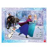 Ledové království - Na bruslích - puzzle 40 dílků