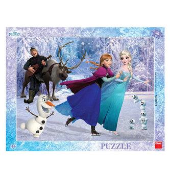 Ledové království - Na bruslích - puzzle 40 dílků - Disney Walt