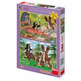 Krtek a zajíci - puzzle 2x66 dílků