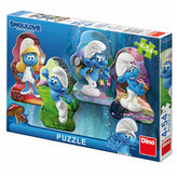 Šmoulové 3 - Hrdinové - puzzle 4x54 dílků