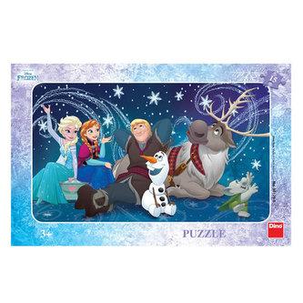 Ledové království - Sněhové vločky - puzzle 15 dílků - Disney Walt