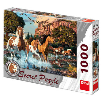 Koně - puzzle 1000 dílků secret collection - neuveden