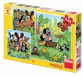 Krtek a zvířátka - Puzzle 3x55