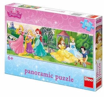 Princezny: Na promenádě - puzzle panoramic 150 dílků - Disney Walt