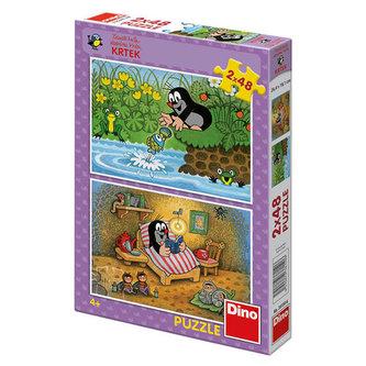 Krtek a perla - Puzzle 2x48 - Miler Zdeněk