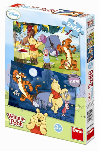 Medvídek Pú - puzzle 2 motivy v balení 2 - neuveden