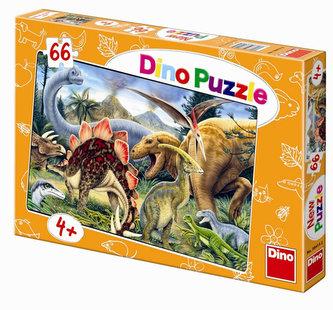 Dinosauři - puzzle 66 dílků - neuveden