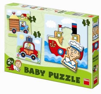 Dopravní prostředky - Baby puzzle - neuveden