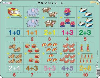 Puzzle MAXI - Sčítání s obrázky a čísly/20 dílků - neuveden
