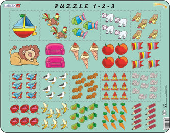 Puzzle MAXI - Počítání pro nejmenší s obrázky/10 dílků - neuveden