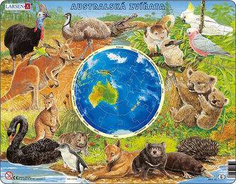 Puzzle MAXI - Zvířata Austrálie/90 dílků - neuveden