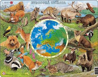 Puzzle MAXI - Zvířata Evropy/90 dílků - neuveden