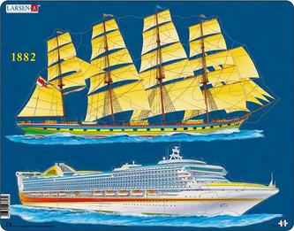 Larsen - Puzzle MAXI - Lodní doprava/20 dílků