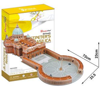 Puzzle 3D Bazilika sv.Petra - 144 dílků - neuveden