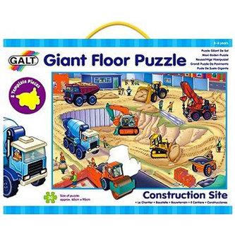 Galt - Velké podlahové puzzle – na staveništi