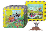 Krtek a mašinka - Pěnové puzzle 30x30 8 ks