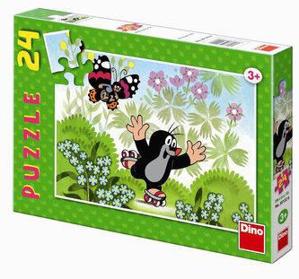 Krteček na bruslích - puzzle 24 dílků - neuveden