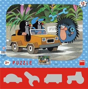 Krtek a autíčko - Puzzle 12 tvary - neuveden