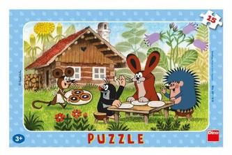 Krtek na návštěvě - Puzzle 15 deskové - neuveden