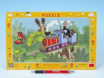 Krtek a lokomotiva - Puzzle 15 deskové - neuveden