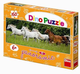 Běžící koně - puzzle Panoramic 150 dílků - neuveden