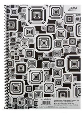 Blok Black & White A4 linka