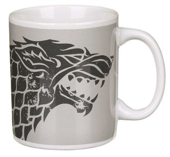 Keramický hrnek Game of Thrones|Hra o Trůny: Stark (objem 350 ml) bílý