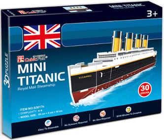 Puzzle 3D Výletní parník,,Titanic - 30 dílků - neuveden