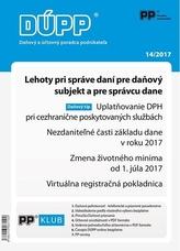 Daňový a účtovný poradca podnikateľa 14-2017