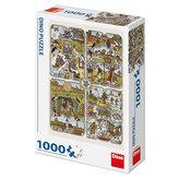 Josef Lada - Roční období - puzzle 1000