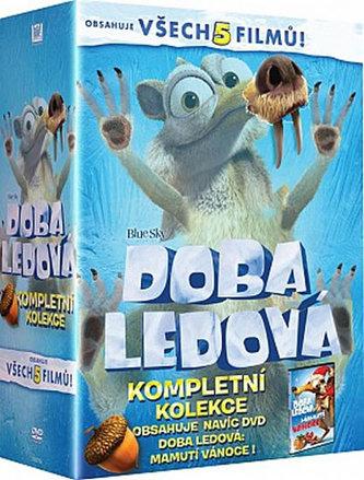 Doba ledová 1-5 - DVD + bonus DVD Mamutí Vánoce - neuveden