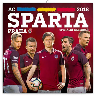 Kalendář poznámkový 2018 - AC Sparta Praha, 30 x 30 cm - neuveden
