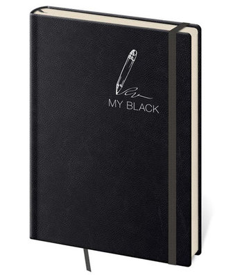 Stil trade - Zápisník My Black - tečkovaný S