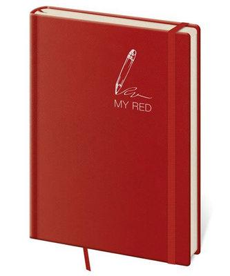 Stil trade - Zápisník My Red - tečkovaný L